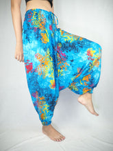 Load image into Gallery viewer, Tie dye  Unisex Aladdin drop crotch pants in Blue PP0056 020037 05