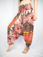 Load image into Gallery viewer, Tie dye  Unisex Aladdin drop crotch pants in Brown PP0056 020040 03
