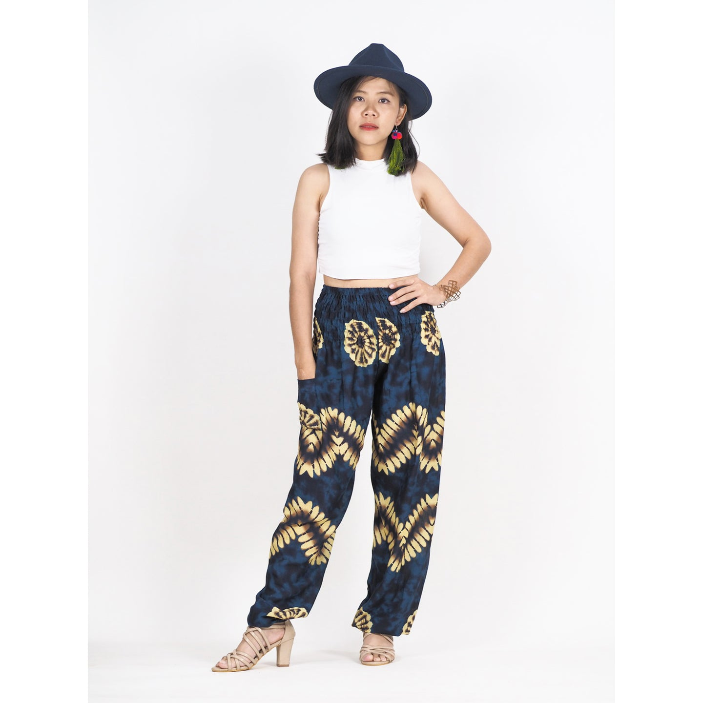 Tie dye 103 women harem pants in Navy blue PP0004 020103 06