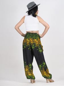 Tie dye 172 women harem pants in Black PP0004 020172 01