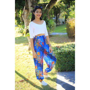 Tie dye 37 women harem pants in Navy PP0004 020037 03