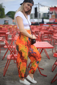Tie dye 37 women harem pants in Orange PP0004 020037 06