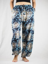 Load image into Gallery viewer, Tie dye Unisex Drawstring Genie Pants in Black PP0110 020039 06
