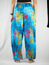 Load image into Gallery viewer, Tie dye Unisex Drawstring Genie Pants in Blue PP0110 020037 05