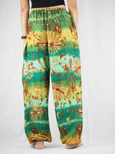 Load image into Gallery viewer, Tie dye Unisex Drawstring Genie Pants in Green PP0110 020069 01
