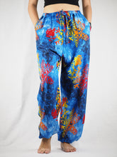 Load image into Gallery viewer, Tie dye Unisex Drawstring Genie Pants in Navy PP0110 020037 03
