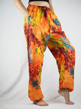 Load image into Gallery viewer, Tie dye Unisex Drawstring Genie Pants in Orange PP0110 020037 06