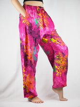 Load image into Gallery viewer, Tie dye Unisex Drawstring Genie Pants in Pink PP0110 020037 04