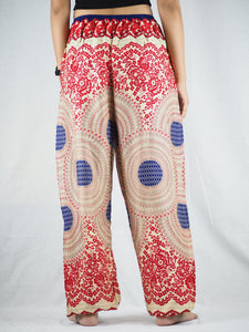 Tone mandala Unisex Drawstring Genie Pants in Red PP0110 020032 02