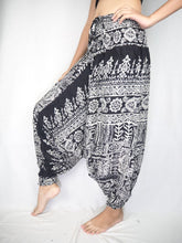 Load image into Gallery viewer, Urban Print Unisex Aladdin drop crotch pants in Black PP0056 020001 01