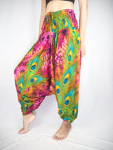 Load image into Gallery viewer, Wild feathers Unisex Aladdin drop crotch pants in Pink PP0056 020073 05