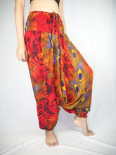 Load image into Gallery viewer, Wild feathers Unisex Aladdin drop crotch pants in Red PP0056 020073 04