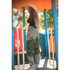 Abstract side flower 160 women harem pants in Olive PP0004 020160 05