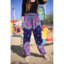 Load image into Gallery viewer, Side sunflower 141 women harem pants in Navy blue PP0004 020141 03