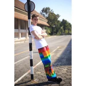 Dancing rainbow 140 men/women harem pants in Blue PP0004 020140 03
