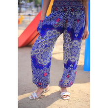 Load image into Gallery viewer, Discrete mandala 182 women harem pants in Bright Navy PP0004 020182 02