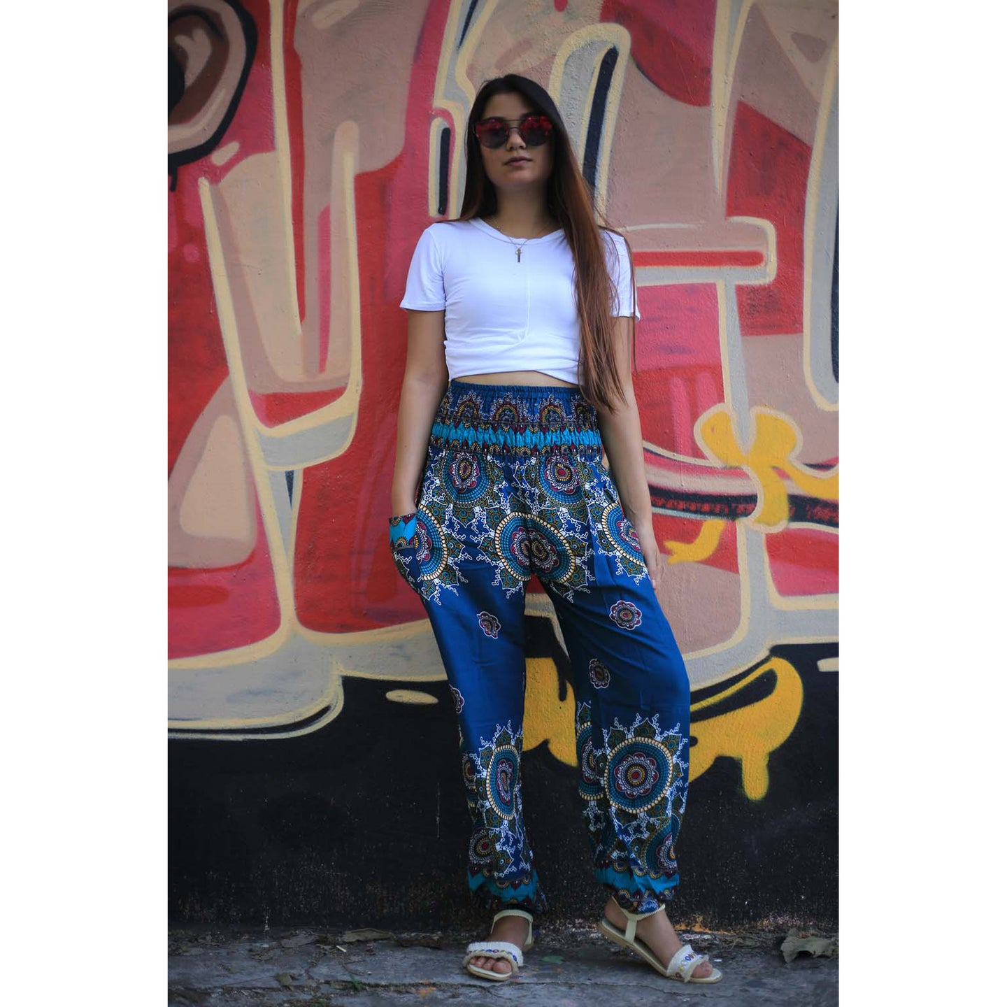 Dream catcher 135 women harem pants in Ocean blue PP0004 020135 03
