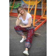 Load image into Gallery viewer, Paisley Indy 117 women harem pants in Red PP0004 020117 03
