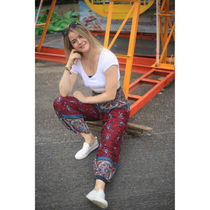 Paisley Indy 117 women harem pants in Red PP0004 020117 03