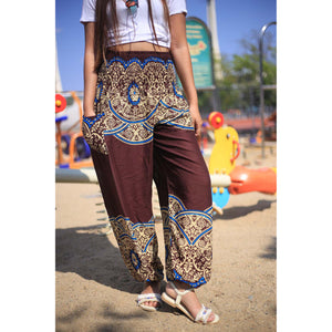 Elegant side flower 163 women harem pants in Brown PP0004 020163 05