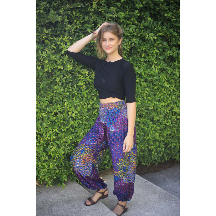 feather bed 76 women harem pants in purple PP0004 020076 05