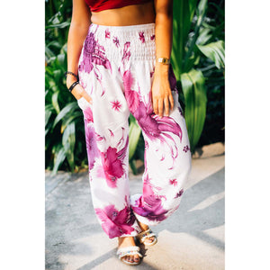 Flower 105 women harem pants in Purple PP0004 020105 04