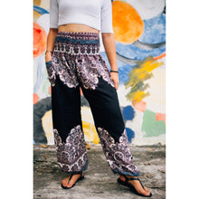 Load image into Gallery viewer, Flower 110 women harem pants in Black PP0004 020110 05