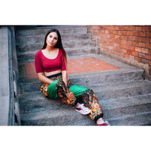 Load image into Gallery viewer, Flowers 101 women harem pants in Green PP0004 020101 04