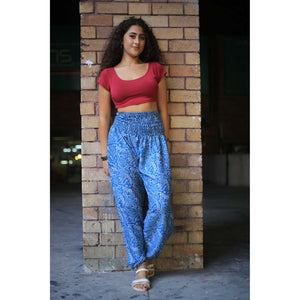 Flowers 150 women harem pants in Blue PP0004 020150 01