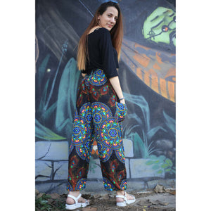Handmade rose 130 women harem pants in Blue PP0004 020130 03