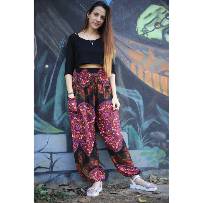 Handmade rose 130 women harem pants in Pink PP0004 020130 04