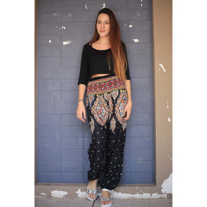 Indian details 153 women harem pants in Black PP0004 020153 03