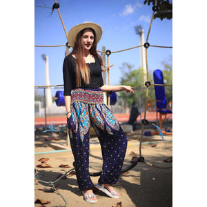 Indian details 153 women harem pants in Navy blue PP0004 020153 04