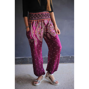 Indian details 153 women harem pants in Purple PP0004 020153 05