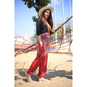 Indian details 153 women harem pants in Red PP0004 020153 01
