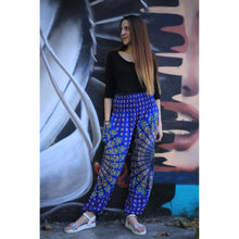 Load image into Gallery viewer, large sunflower 128 women harem pants in Blue PP0004 020128 02