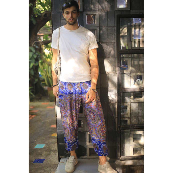 Mandala 114 men/women harem pants in Bright navy PP0004 020114 02