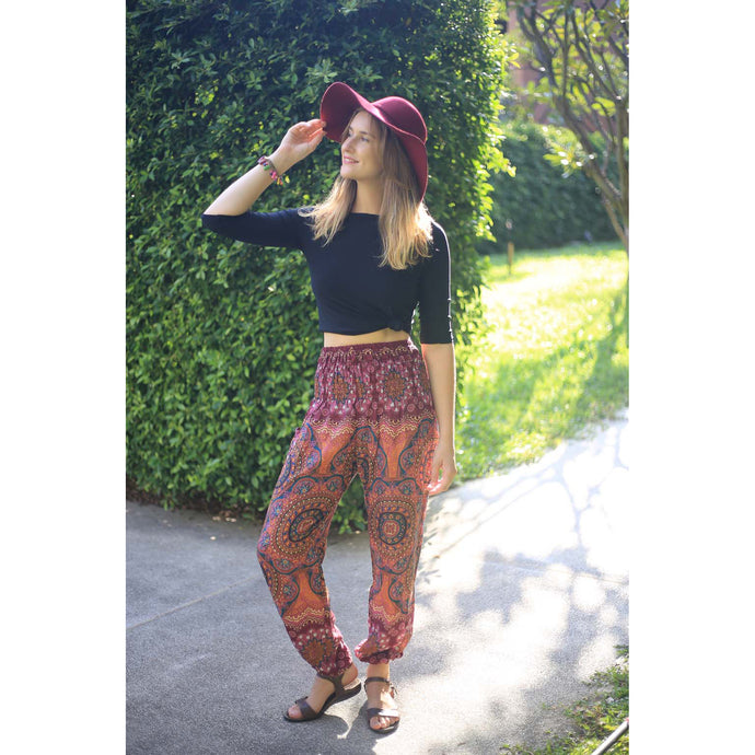 Mandala 114 women harem pants in Red PP0004 020114 06