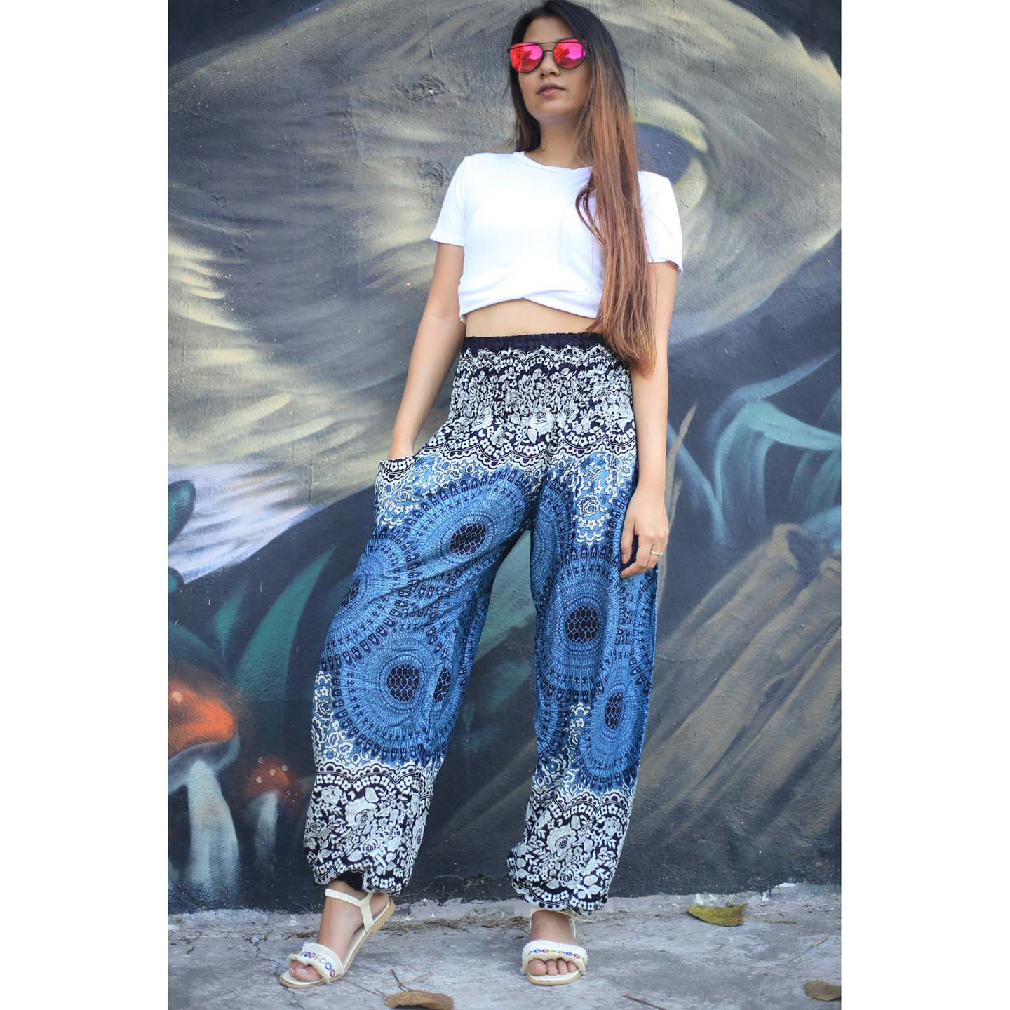 Mandala 125 women harem pants in Black PP0004 020125 01