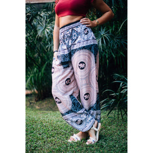 Mandala elephant 108 women harem pants in White PP0004 020108 03