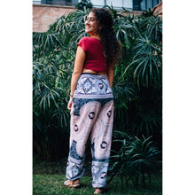 Load image into Gallery viewer, Mandala elephant 108 women harem pants in White PP0004 020108 03