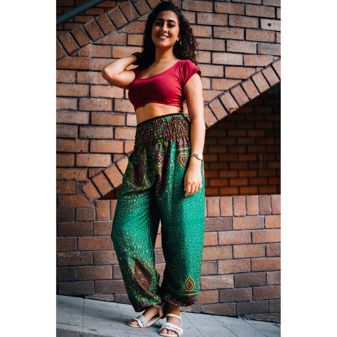 Middle east 106 women harem pants in Green PP0004 020106 01