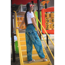Load image into Gallery viewer, Monotone flower 162 women harem pants in Ocean blue PP0004 020162 04