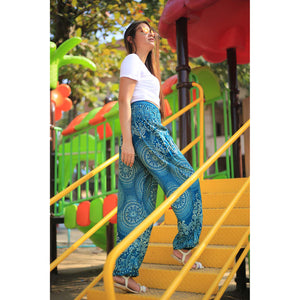 Monotone flower 162 women harem pants in Ocean blue PP0004 020162 04