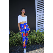 Load image into Gallery viewer, Painted flower 62 women harem pants in Navy PP0004 020062 01