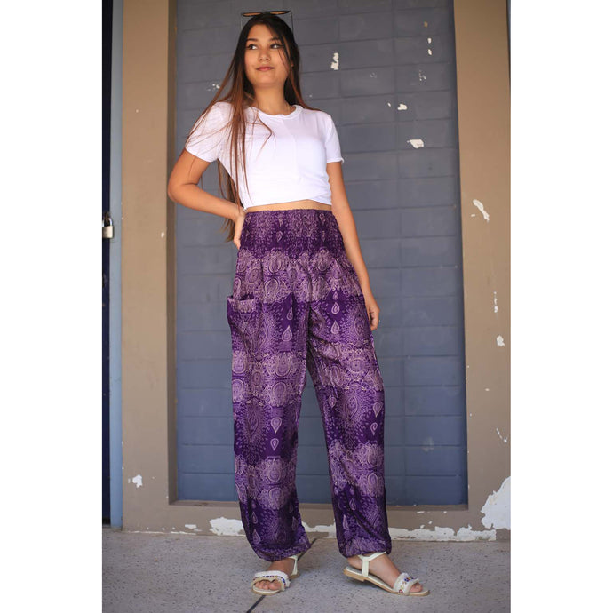 Paisley 133 women harem pants in Purple PP0004 020133 04