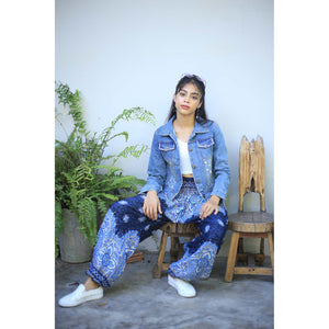 Rose bushes 118 women harem pants in Navy blue PP0004 020118 03
