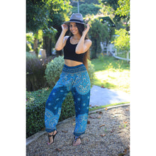 Load image into Gallery viewer, Rose bushes 118 women harem pants in Ocean blue PP0004 020118 02