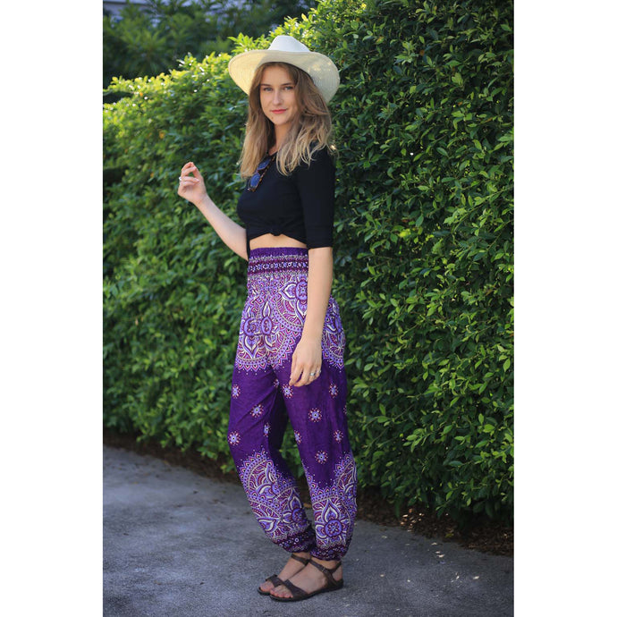 Rose bushes 118 women harem pants in Purple PP0004 020118 04