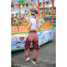 Load image into Gallery viewer, Rose bushes 118 women harem pants in Red PP0004 020118 05